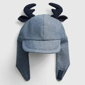 BABY GAP critter chambray trapper baby hat